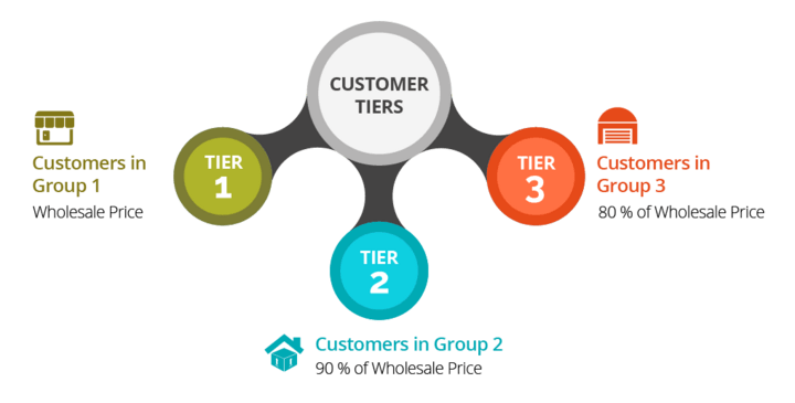 Customer tiers different pricing